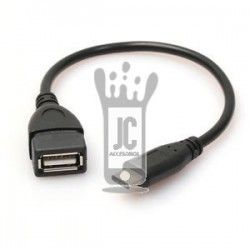 Cable OTG USB A TIPO C negro