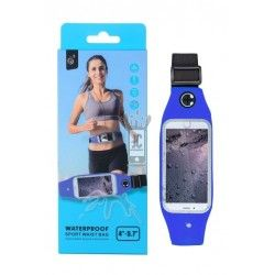 "Funda BB104 Waterproof Sport Wsist Bag 4"" - 5,7"" Azul"