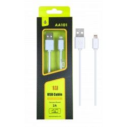 Cable Datos Iphone AA101 1M Blanco