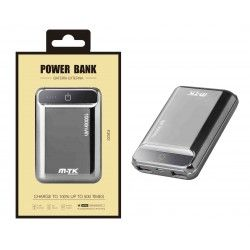 K3632 GR Power Bank PocketStation 10000mAh, 2USB with LED Indicador, Gris