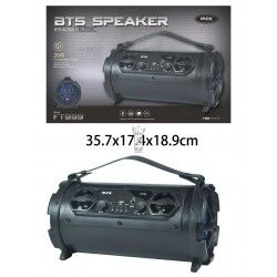 FT999 NE Altavoz Bluetooth Electra con pantalla LED, 20W, FM/TF/Audio/Microfono,Negro