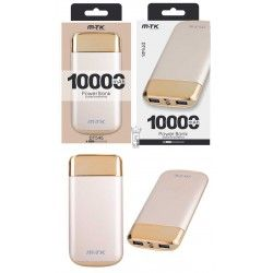 DT545 OR Powerbank Joker 10000 mAh, 2 USB con indicador LED, Oro