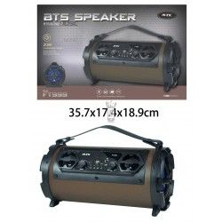 FT999 MA Altavoz Bluetooth Electra con pantalla LED, 20W, FM/TF/Audio/Microfono,Marron