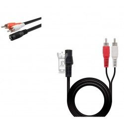 Cable de Audio  3.5 F 2/ 2RCA 1,5 Metros