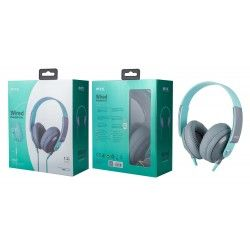 K3647 VE Auriculares con Microfono Tink, Cable Audio 1.2M, Verde