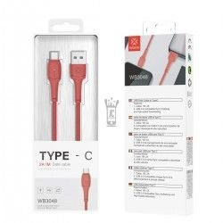 WOOX WB3048 CABLE LED TIPO-C 2A 1M ROJO