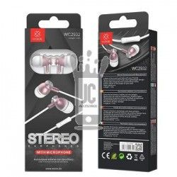 WOOX WC2932 AURICULARES STEREO CON MICROFONO ROSA