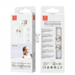 WOOX WC2936 AURICULARES STEREO CON MICROFONO ORO