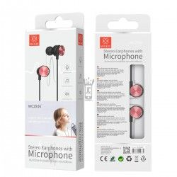 WOOX WC2936 AURICULARES STEREO CON MICROFONO ROJO