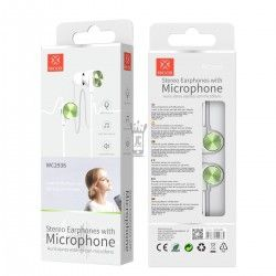 WOOX WC2936 AURICULARES STEREO CON MICROFONO VERDE