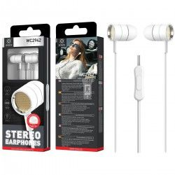 WOOX WC2942 AURICULARES STEREO CON MICROFONO BLANCO