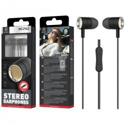 WOOX WC2942 AURICULARES STEREO CON MICROFONO NEGRO