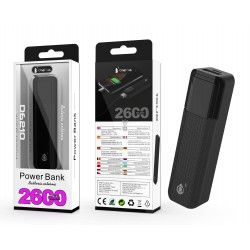 D6210 NE Power Bank Sorlax 2600 mAh, Negro
