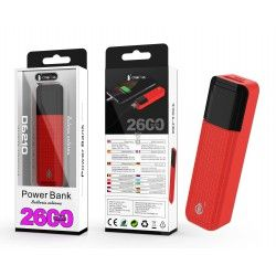 D6210 RJ Power Bank Sorlax 2600 mAh, Rojo