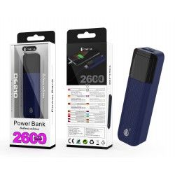 D6210 AZ Power Bank Sorlax 2600 mAh, Azul