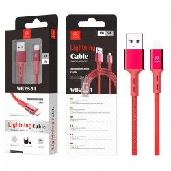 LT PLUS WB2851 CABLE DE USB PARA IPHONE ROJO