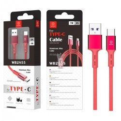WOOX CABLE WB2360 TIPO-C 1M NEGRO