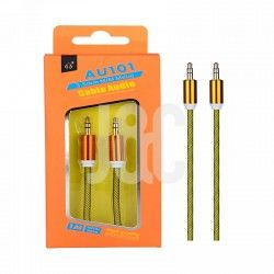 Cable Audio Jack 3.5mm  Conector Metalico,M/M, 1M Oro
