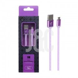 Cable de Datos Micro USB Metal Morado 2A 1M