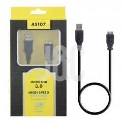 Cable USB 3.0 Am a Micro USB 1.5M