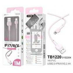 0152204 - TB1220 RS Cable de Datos M.Karron para IP 5 - 11, 2,4A 1M, Rosa