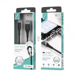 WOOX WB1151 CABLE TIPO C 1M 2,4A NEGRO