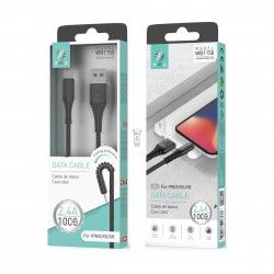 WOOX WB1150 CABLE IPHONE 1M 2.4A NEGRO