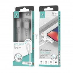 WOOX WB1150 CABLE IPHONE 1M 2.4A BLANCO