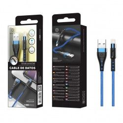 WOOX WB2839 CABLE IPHONE 1M 2.4A AZUL
