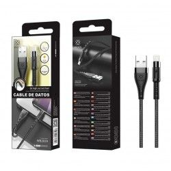 WOOX WB2839 CABLE IPHONE 1M 2.4A NEGRO