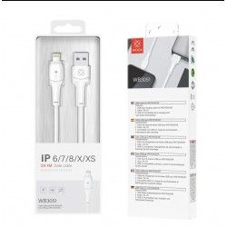 WOOX WB3051 CABLE IPHONE 1M 2A BLANCO