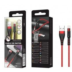WOOX WB2839 CABLE IPHONE 1M 2.4A ROJO