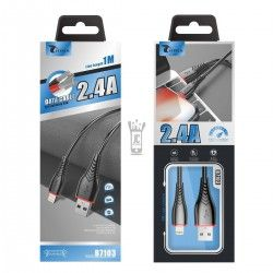 LT PLUS B7103 CABLE IPHONE 1M NEGRO 2.4A