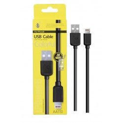 Cable Datos Iphone AA110 Negro