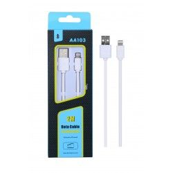 Cable Datos Iphone AA103 2M Blanco
